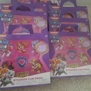 Paw Patrol Sticker Pack Party Favors x 13 New
